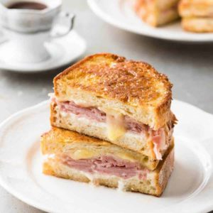 Topped with ham and classic cheese