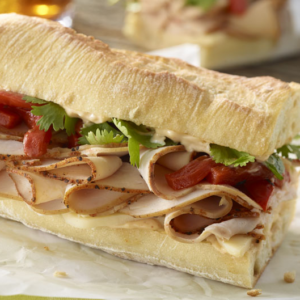 Turkey and cheese make for a scrumptious sub